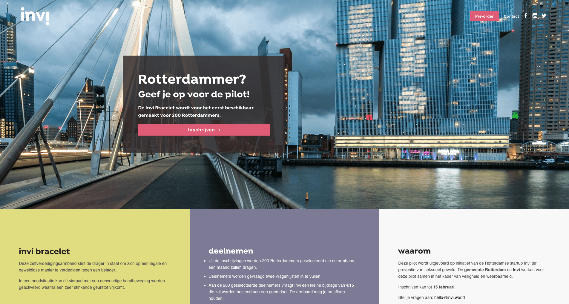 Website Invi Bracelet http://invi.world/rotterdam/