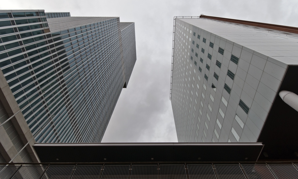 'De Rotterdam' and the 'KPN Tower' together