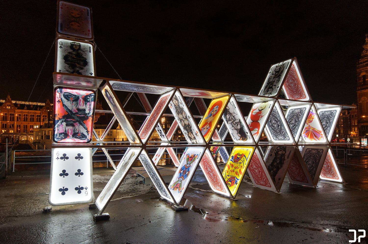 House of cards - Amsterdam Light Festival 2014
