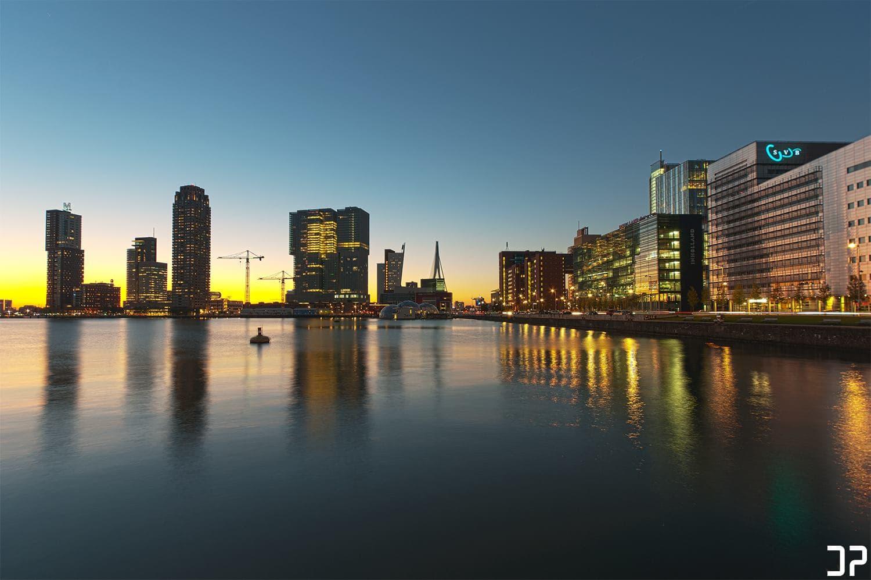 Skyline Wilhelminapier Rotterdam
