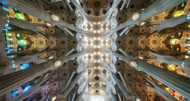 Sagrada Família Barcelona - Looking up