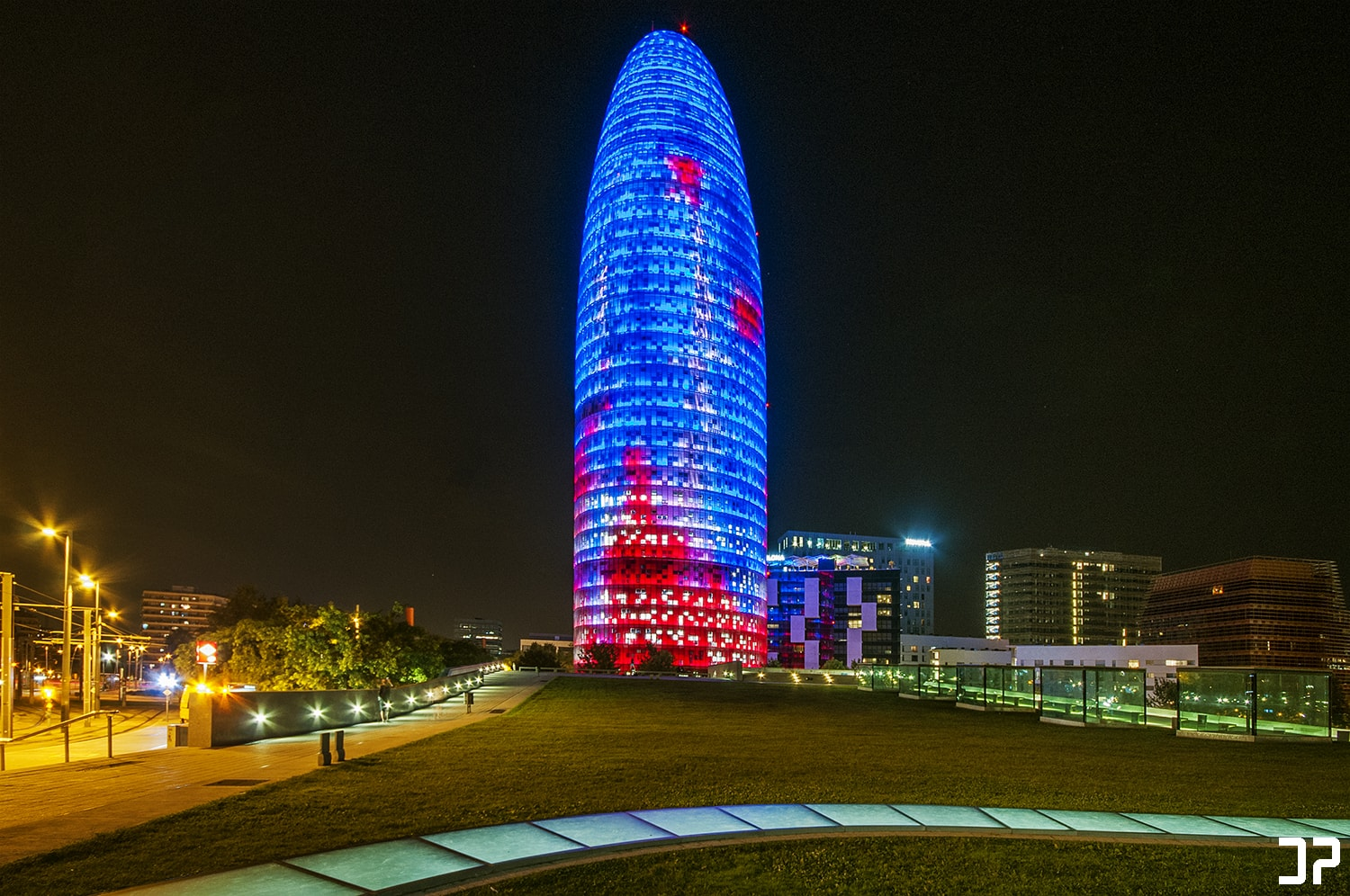 Barcelona - Torre Glòries at night
